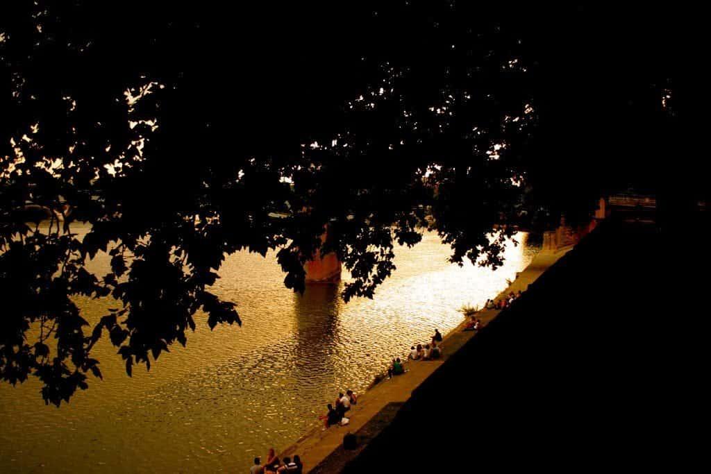 Coucher de soleil sur la Garonne