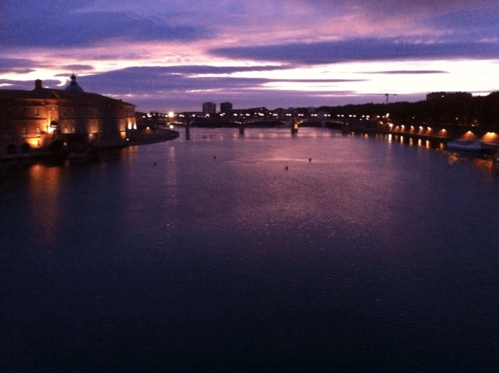 Garonne au coucher du soleil